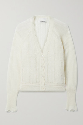 3.1 Phillip Lim Pointelle-knit Alpaca-blend Cardigan - Ivory