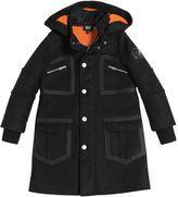 Armani Junior Felt Wool & Mesh Coat