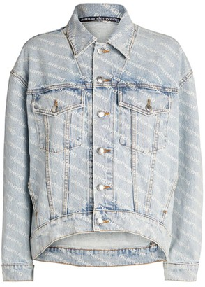 Alexander Wang Logo Denim Jacket