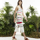 Lacoste Women's Fashion Show Long Colorful Striped Jersey Dress