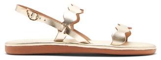 Ancient Greek Sandals Afros Wavy-strap Leather Slingback Sandals - Gold