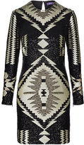 Ralph Lauren Tonya Sequined Shift Dress