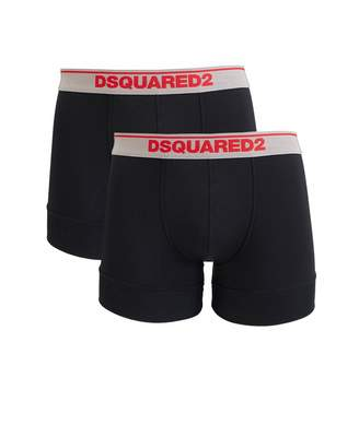 DSQUARED2 2 Pack Boxer Shorts Colour: BLACK, Size: SMALL