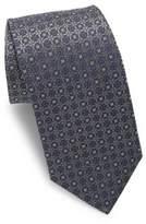 Eton Silver Woven Medallion Silk Tie