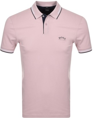 Boss Athleisure BOSS Paul Curved Polo T Shirt Pink