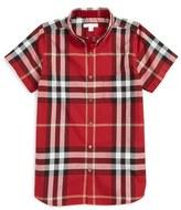 Burberry 'Mini Fred' Check Short Sleeve Shirt (Little Boys & Big Boys)