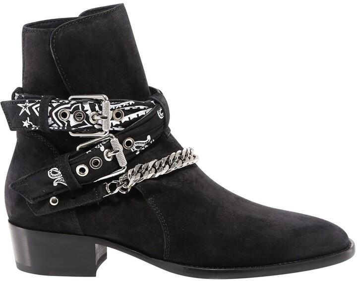 Amiri Bandana Chain Boots