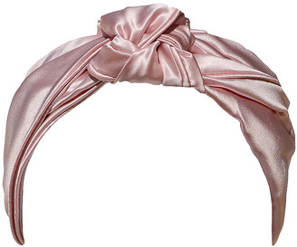 Slip Pure Silk the Knot Headband in Pink | FWRD