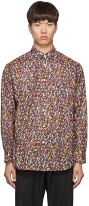 Comme des Garcons Multicolor Poplin Flower Print Shirt