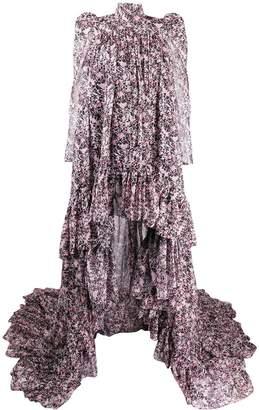 Giambattista Valli floral-print high-low dress