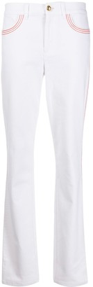 Escada Stitching Detail Straight-Leg Trousers