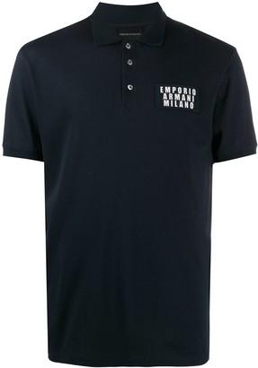 Emporio Armani Pique Cotton Polo Shirt