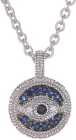 Judith Ripka Sterling Silver Evil Eye Sapphire Pendant Necklace