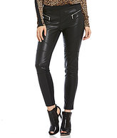 MICHAEL Michael Kors Faux Leather Front Ponte Knit Moto Legging