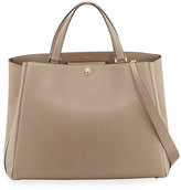 Valextra Triennale Large Leather Tote Bag, Taupe