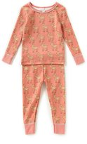 Starting Out Little Girls 2T-4T Fawn-Print Top & Pants Pajama Set