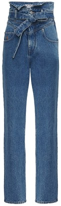 ATTICO High-waisted Paper Bag Denim Jeans