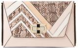 Diane von Furstenberg Agent Jordan Patchwork Leather Zip On Clutch