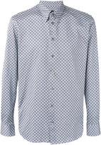 Giorgio Armani patterned two-tone shirt - men - Cotton - 44