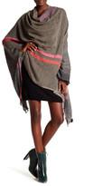 Saachi Herringbone Pattern Wool Blend Wrap