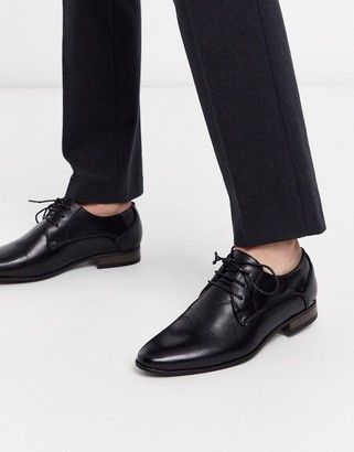 New Look faux leather formal derby in black