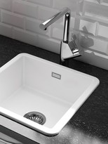 Clearwater Metro Small Single Bowl Ceramic Kitchen Sink, White