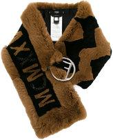 Fendi embellished MCMXXV fur scarf