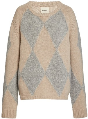 KHAITE Beige And Grey Daisy Pullover Sweater