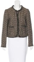 Tory Burch Long Sleeve Tweed Jacket