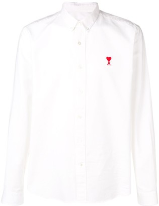 Ami Paris Button-down Shirt De Coeur Chest Patch