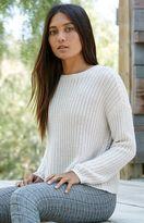 La Hearts Shaker Rib Stitch Pullover Sweater