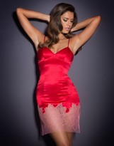 Agent Provocateur Shirley Short Slip Red