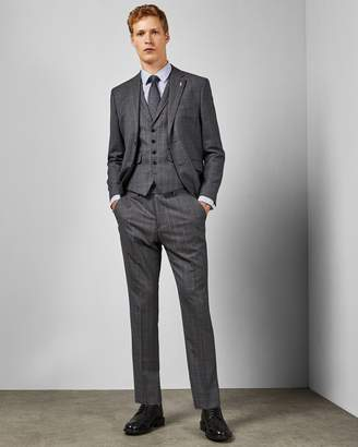 Ted Baker Checked Wool Skinny Trouser