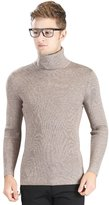 OCHENTA Men's Super Elastic Bottom Turtleneck Knitted Pullover Sweater