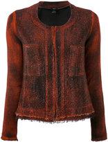 Avant Toi tweed jacket - women - Cotton/Linen/Flax/Polyamide - XS