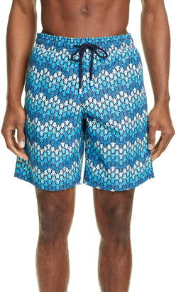Vilebrequin Okoa Micro Ronde Des Tortues Print Swim Trunks