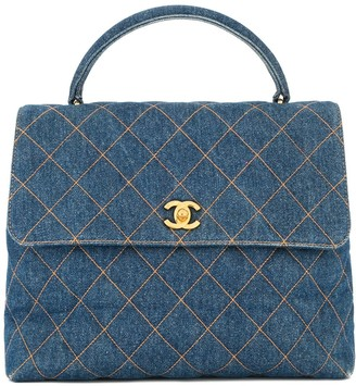 Chanel Pre-Owned 1996-1997 quilted denim handbag