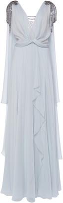 Alberta Ferretti Draped Silk-Chiffon Gown