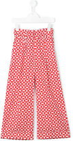 Simonetta printed wide leg trousers - kids - Cotton - 8 yrs