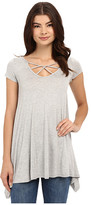 Culture Phit Aubrianna Cap Sleeve Top with Front Twist