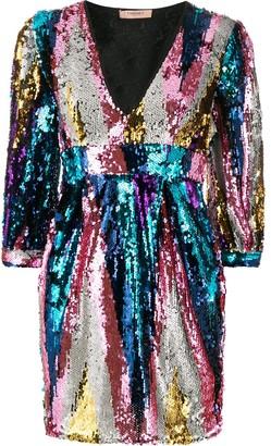 Twin-Set Twin Set sequin embellished dress