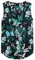 Banana Republic Botanical Print Pleated Drapey Tank
