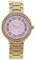 Juicy Couture Catalina Goldtone Crystal Bezel Pink Dial Bracelet Watch