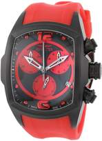 Invicta Men's 6728 Lupah Collection Chronograph Ion-Plated Red Rubber Watch