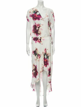 Haute Hippie Silk Long Dress w/ Tags White