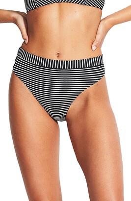 Seafolly Go Overboard Rio High Waist Bikini Bottoms
