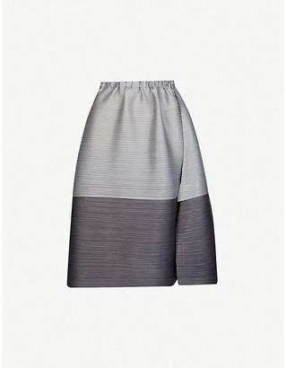 Pleats Please Issey Miyake Gradient pleated high-waist woven mini skirt
