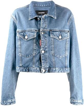 DSQUARED2 boxy fit denim jacket