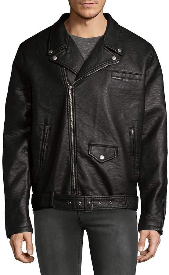 Members Only Men's Pebblie Biker Jacket
