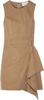 3.1 Phillip Lim Asymmetric belted cotton-poplin mini dress